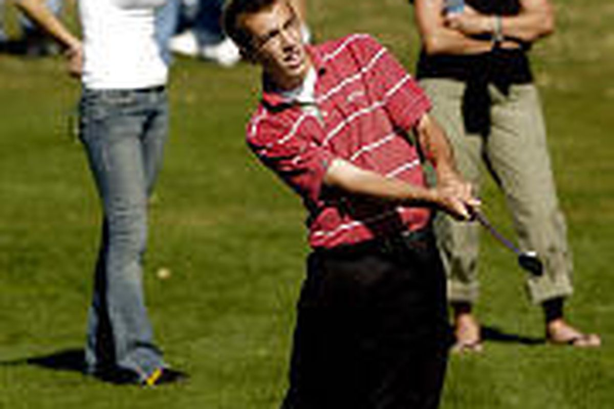 Bountiful's golf team is trying to bounce back after losing most of its top golfers from a year ago, including Henry Poulton, shown here competing in last year's 4A golf championships at Old Mill Golf Course.