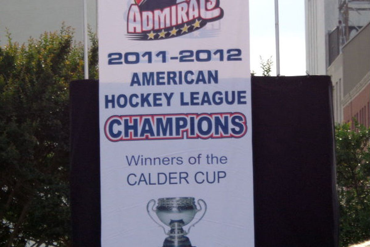 Norfolk Admirals Calder Cup Banner