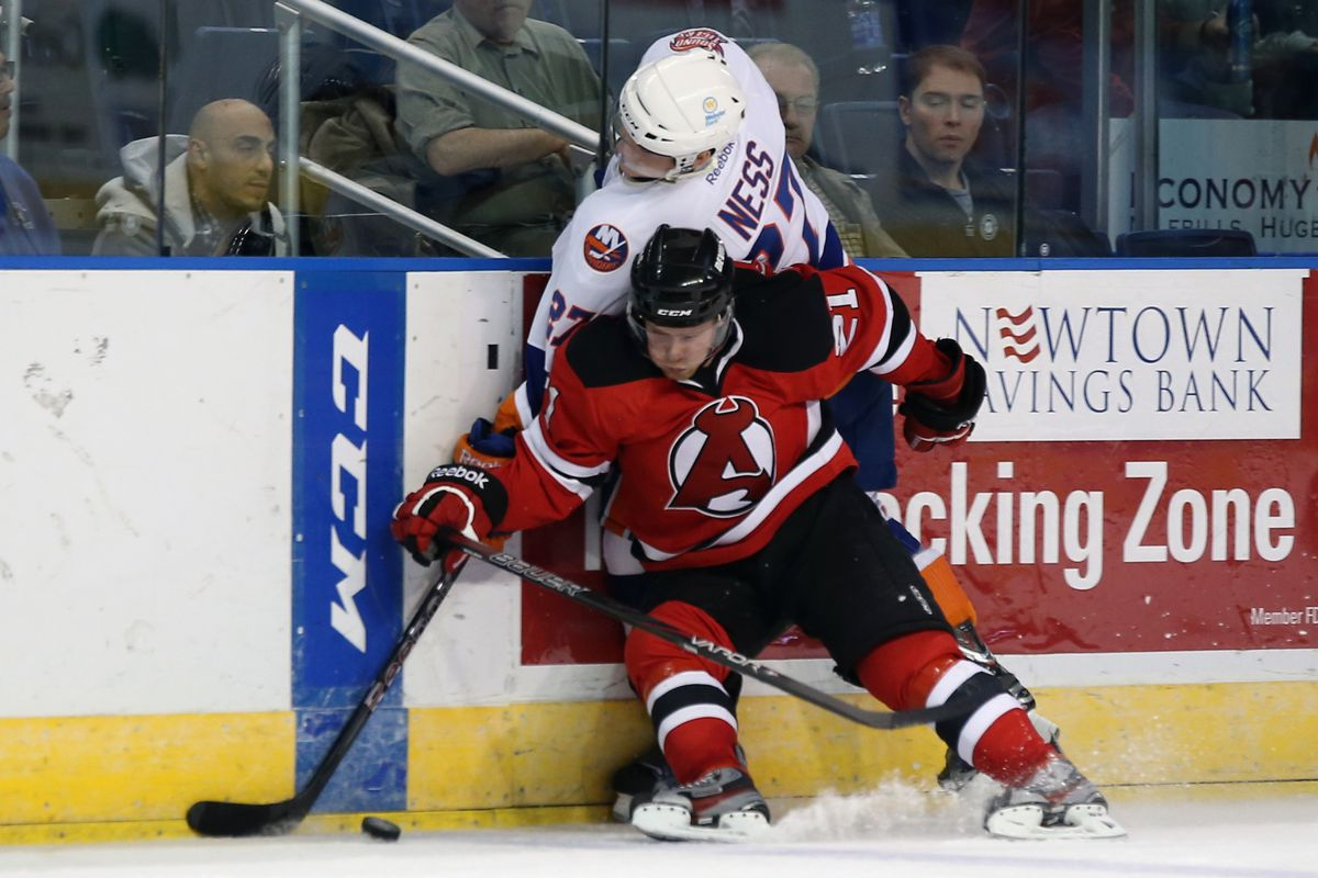 Mattias Tedenby - who was injured during the Albany Devils game on Saturday
