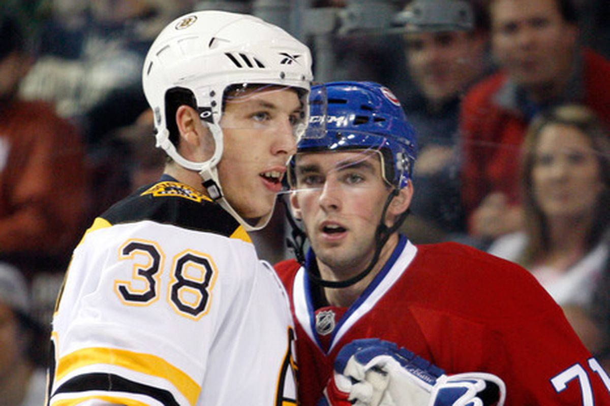 Louis Leblanc (r)  says he is determined to start his season in Hamilton (Photo by Richard Wolowicz/Getty Images)