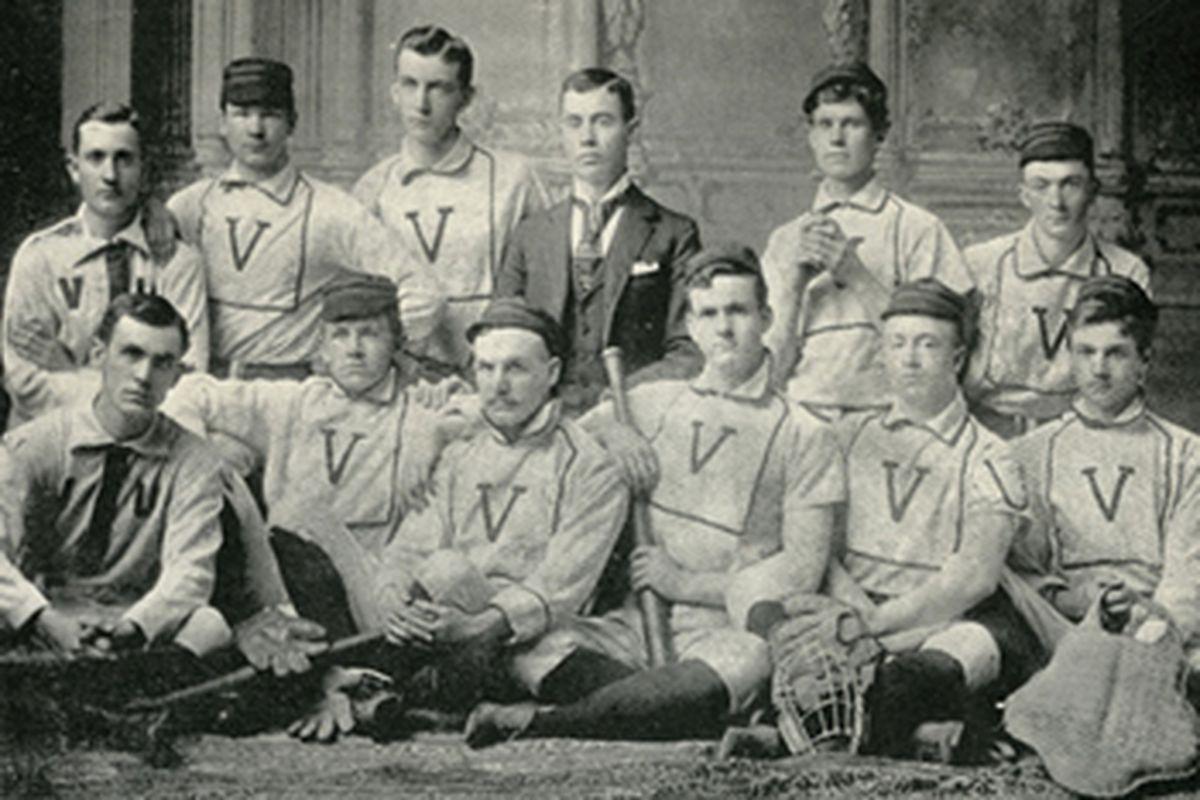 The 1891 Vanderbilt University men's baseball team. So hardcore - half these guys had polio.