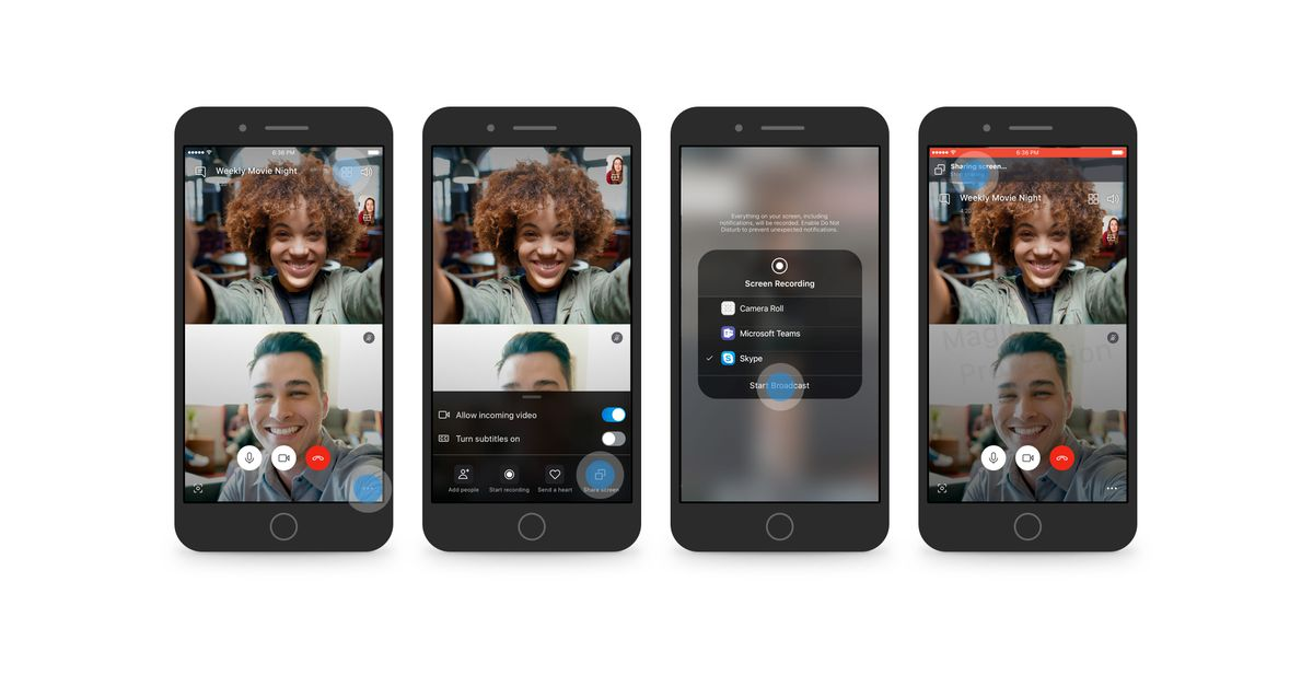 QnA VBage Skype now lets you share your Android or iOS phone screen on video calls