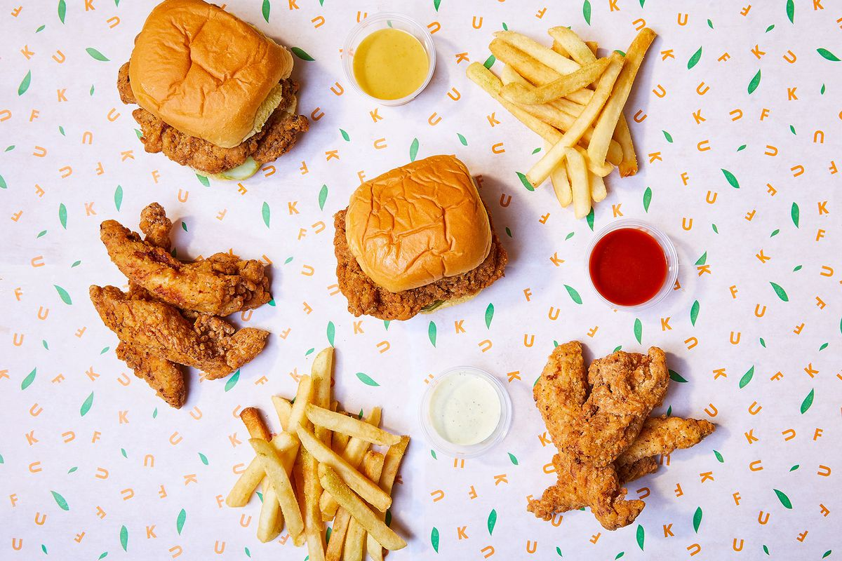 Fuku fried chicken and fries