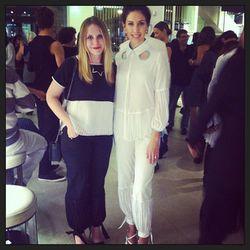 "SF designer Sarah Liller with her model Eden Tamayo, photo via <a href=""http://instagram.com/sarahliller"">@sarahliller</a>"
