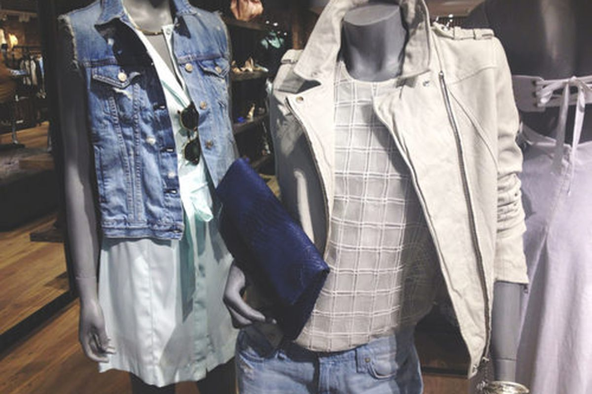 Mannequins from the Bowery store