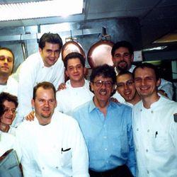 "<a href=""http://andrewcarmellini.com/2013/12/jean-louis-palladin-2000/#content"">With Jean Louis Palladin, 2000</a>."