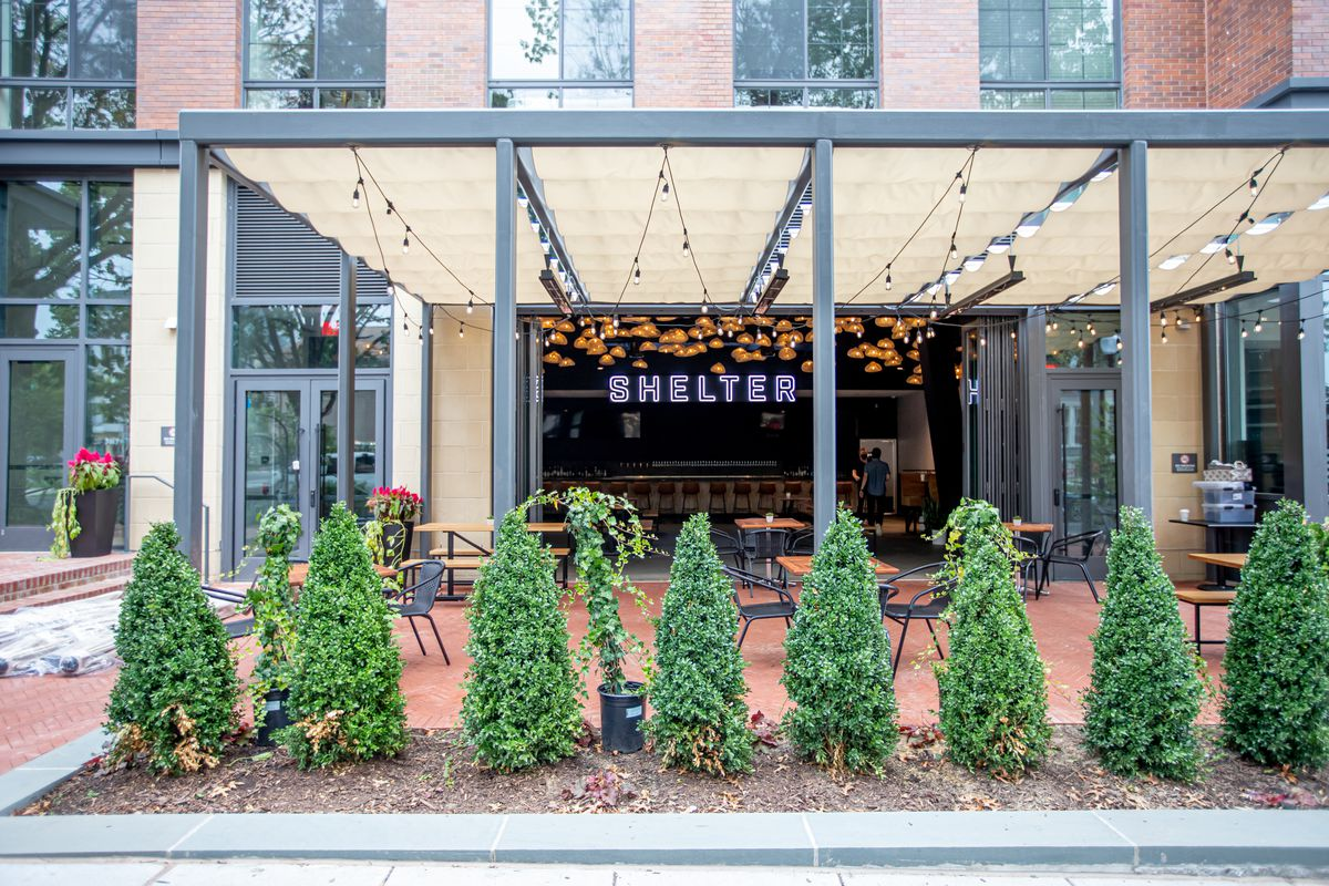 Shelter, the new beer garden at the Roost food hall in Capitol Hill, has 100 patio seats.