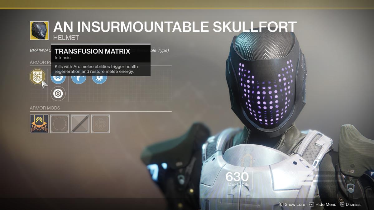 An Insurmountable Skullfort Exotic Destiny 2