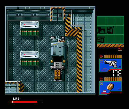 Metal Gear 2: Solid Snake - military base with truck