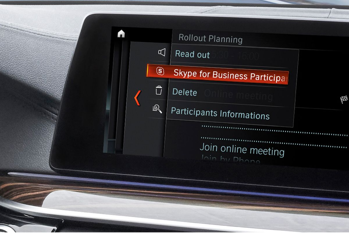 Microsoft Is Expanding Its Partnership With Bmw To Enable Skype For Business In Cars That Use S Idrive System Was One Of The First Car Makers