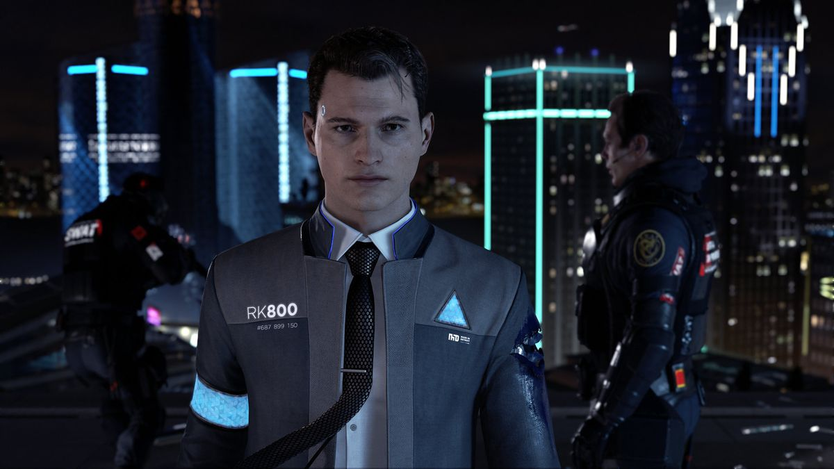 Detroit: Become Human - Connor on rooftop