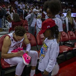 Kobe King signing an autograph for a lucky fan