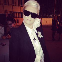 Karl Lagerfeld and Choupette!