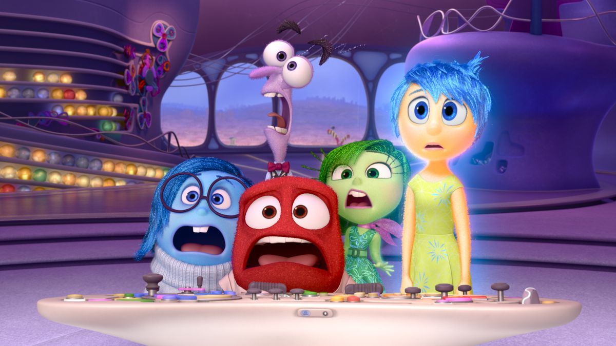 The Inside Out characters scream in horror.