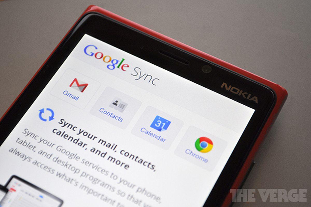 Windows Phone Google Sync