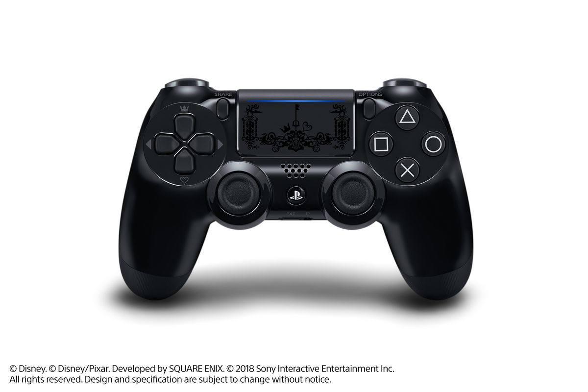 A photo of the Kingdom Hearts 3 limited edition DualShock 4.