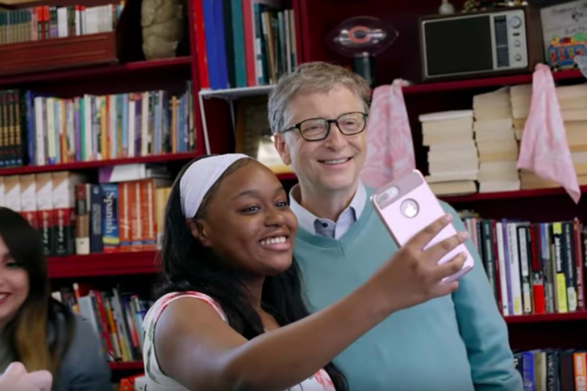 Bill Gates visited North-Grand High School in Humboldt Park last fall.
