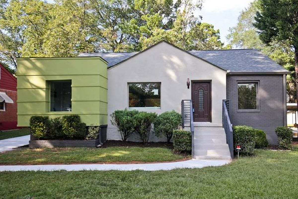 A whack-ass modern renovation near the East Atlanta Village for sale right now.