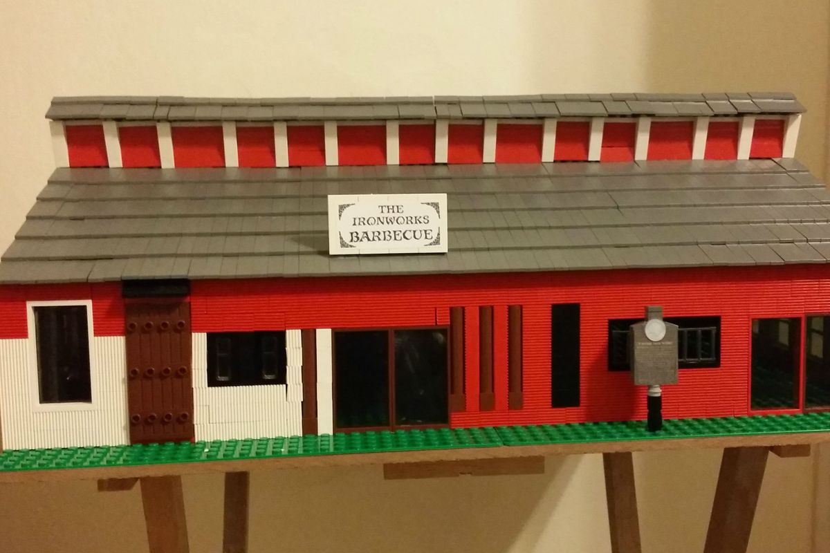 Lego version of Iron Works BBQ