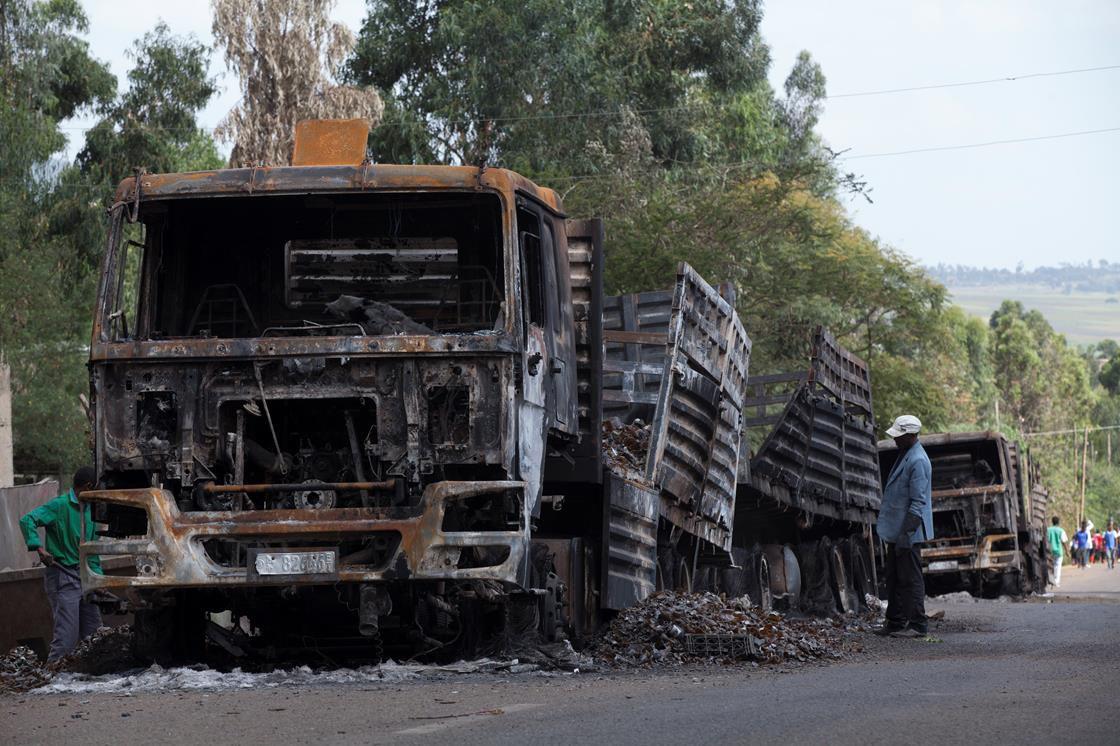 Truck destroyed in Ethiopia