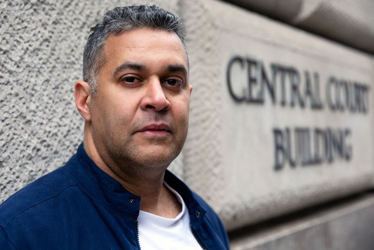 Uber driver Luis Duran said he felt dehumanized after he was arrested for allegedly driving through a stoplight and forced to spend a night in a police precinct before being taken to Brooklyn Criminal Court for his arraignment, April 9, 2019.