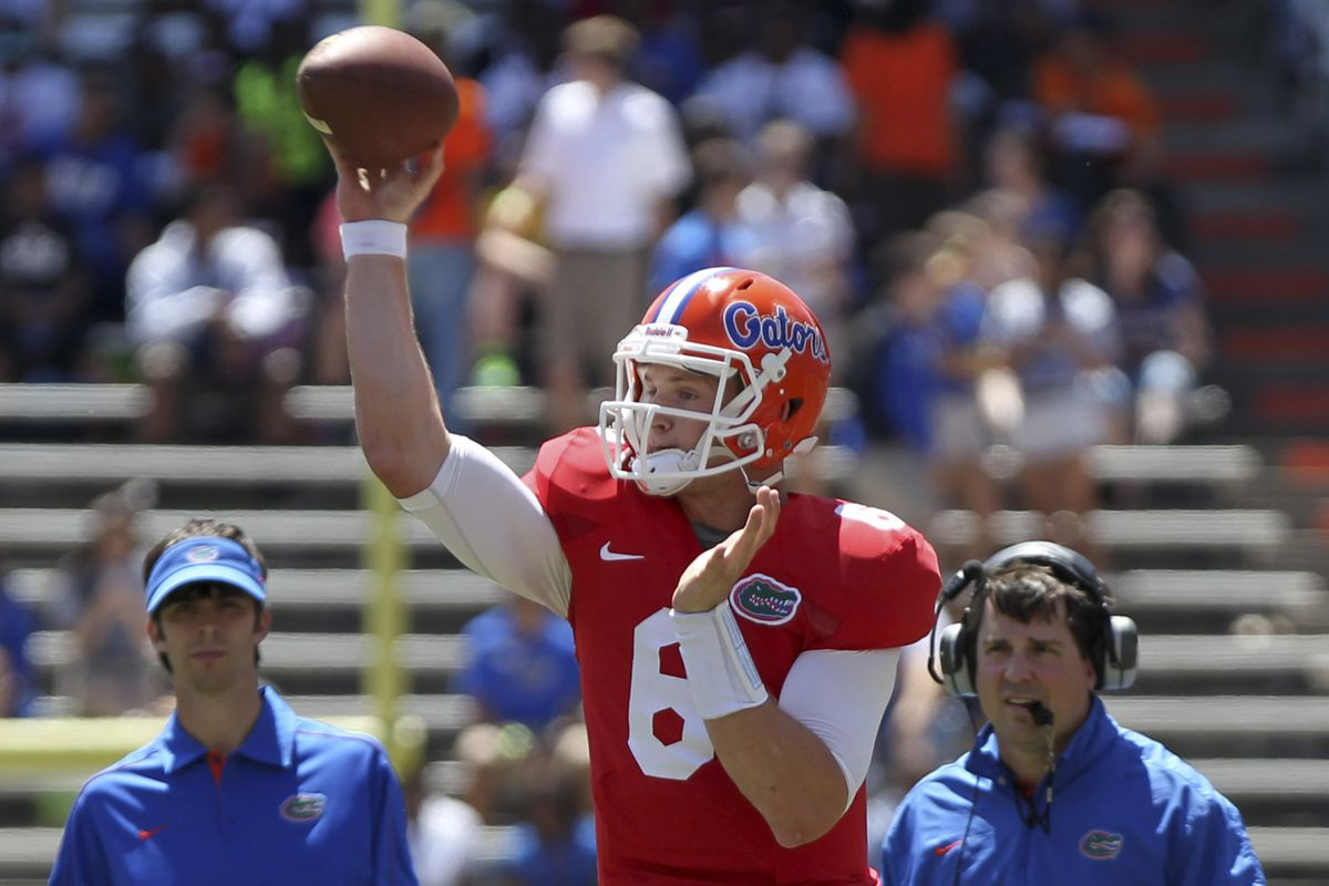 Jeff Driskel shows good form turning a double play.