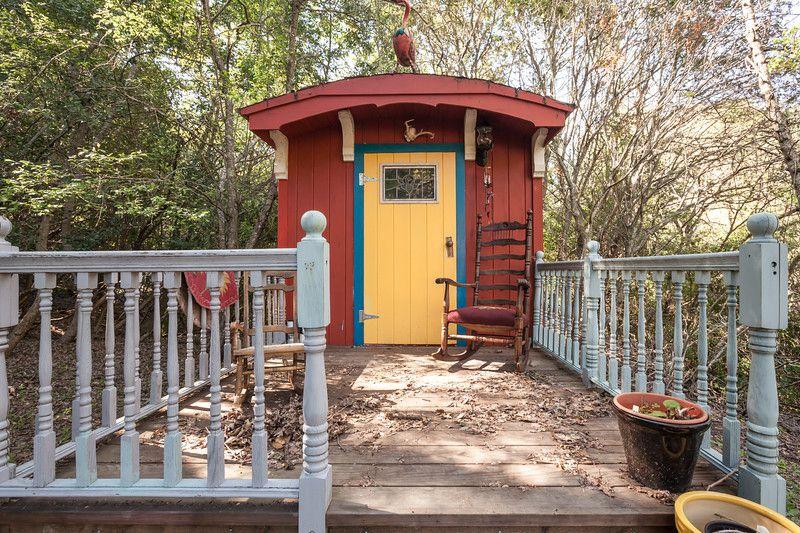 Joyce Maynard's tiny house on wheels.