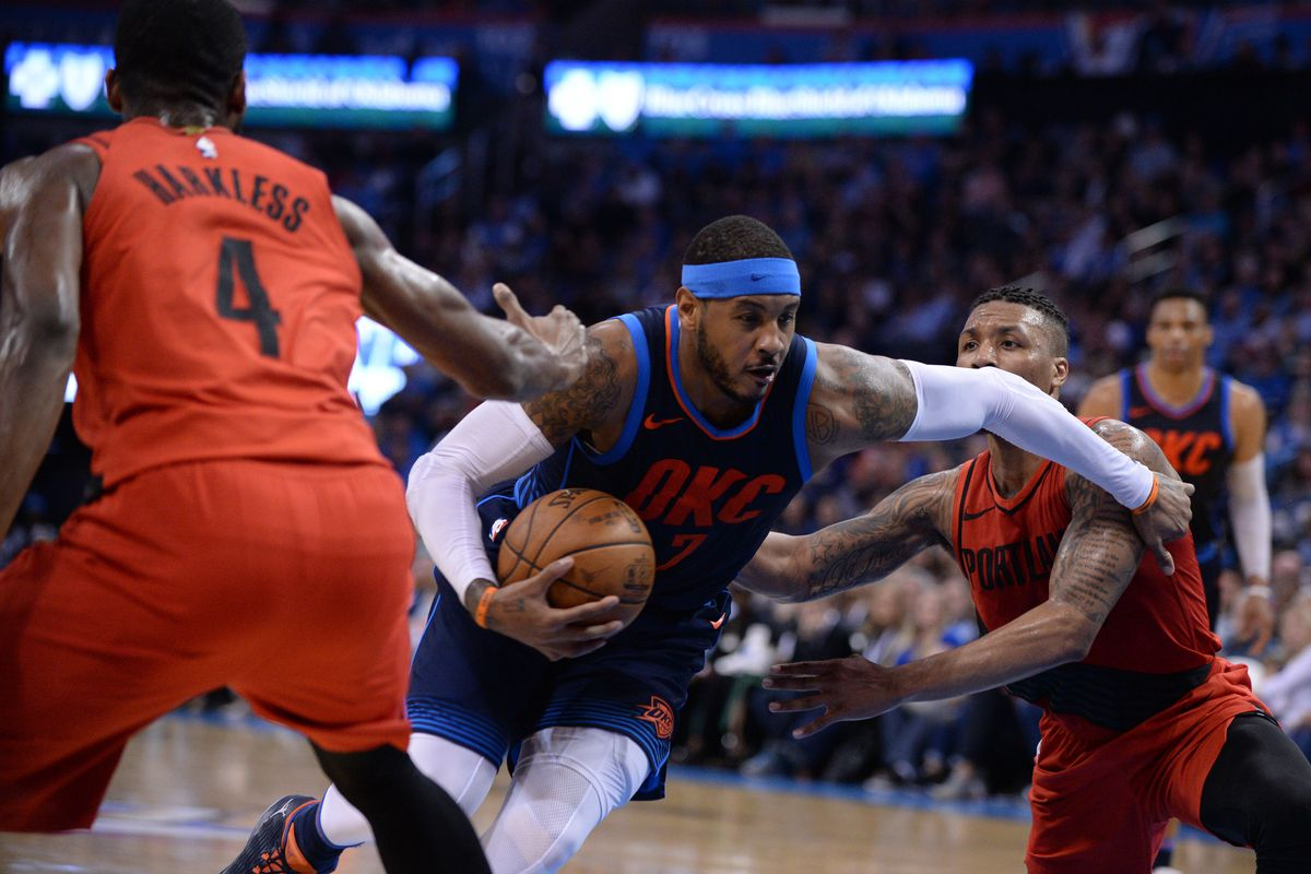b212e0da0521 Carmelo Anthony Couldn t Crack Blazers Playoffs Rotation