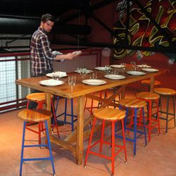 The secret chef's table on top of the walk-in