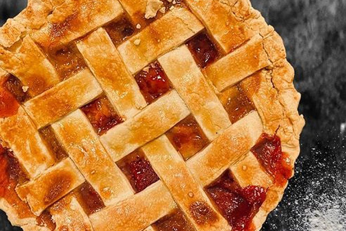 Strawberry peach pie, on the future menu of Crust & Roux Gourmet Pie Co at Town Square.