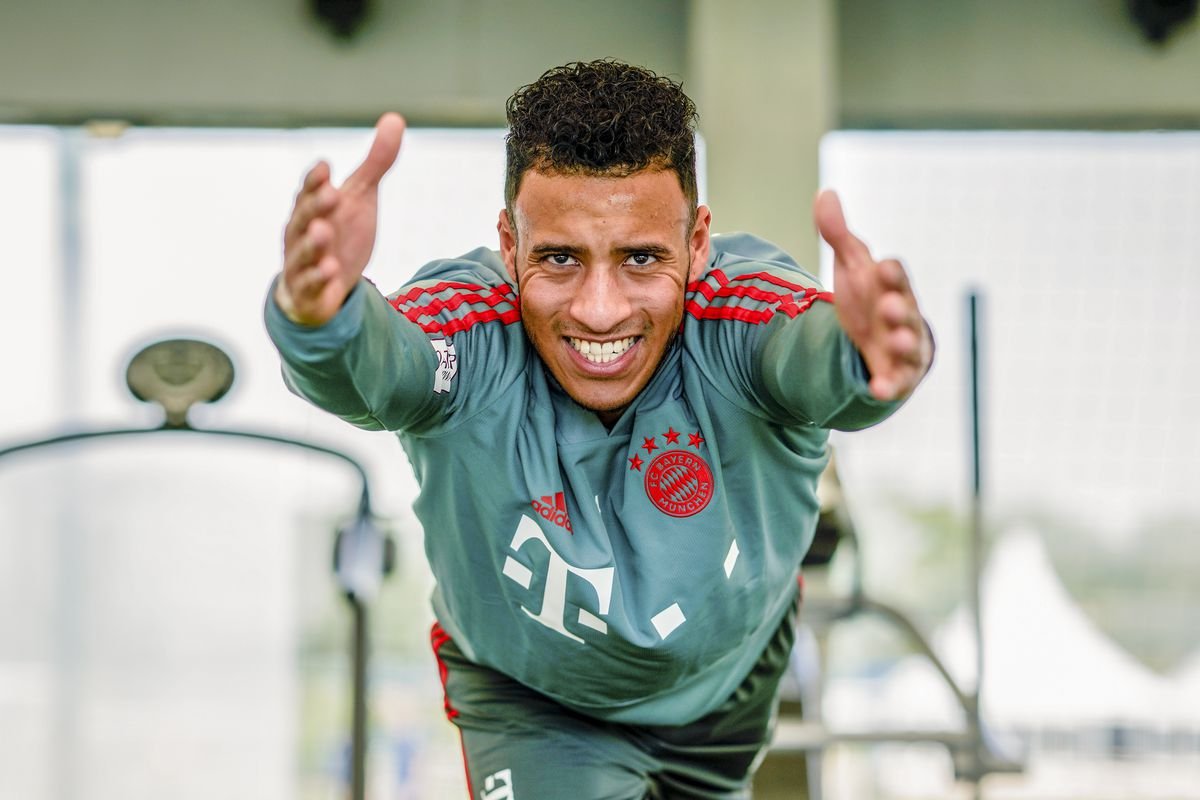 DOHA, QATAR - JANUARY 07: (EXCLUSIVE COVERAGE) Corentin Tolisso is seen during a rehab training session at Aspire Academy on January 7, 2019 in Doha, Qatar.