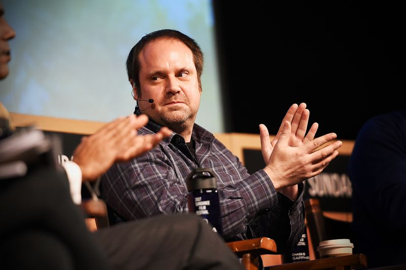 Jeff Skoll speaks onstage at the New Climate Lunch Roundtable at the Sundance Film Festival on January 22, 2017.