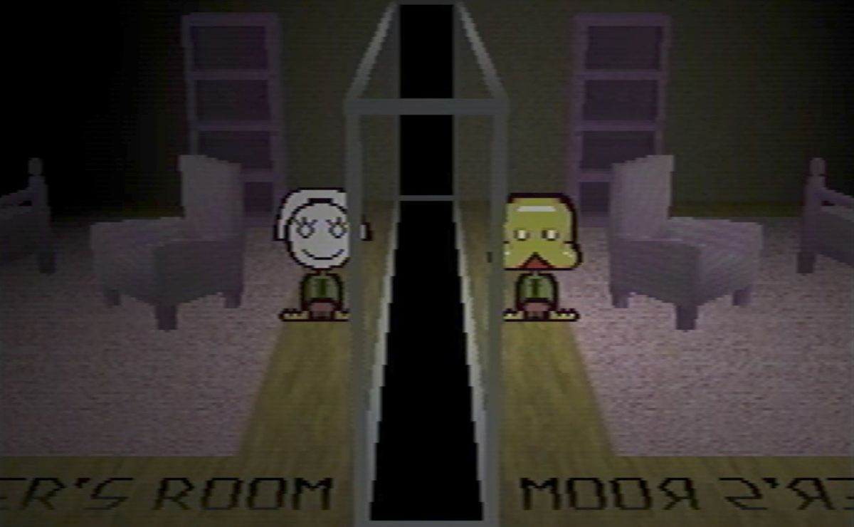 Petscop: two creepy people in a room