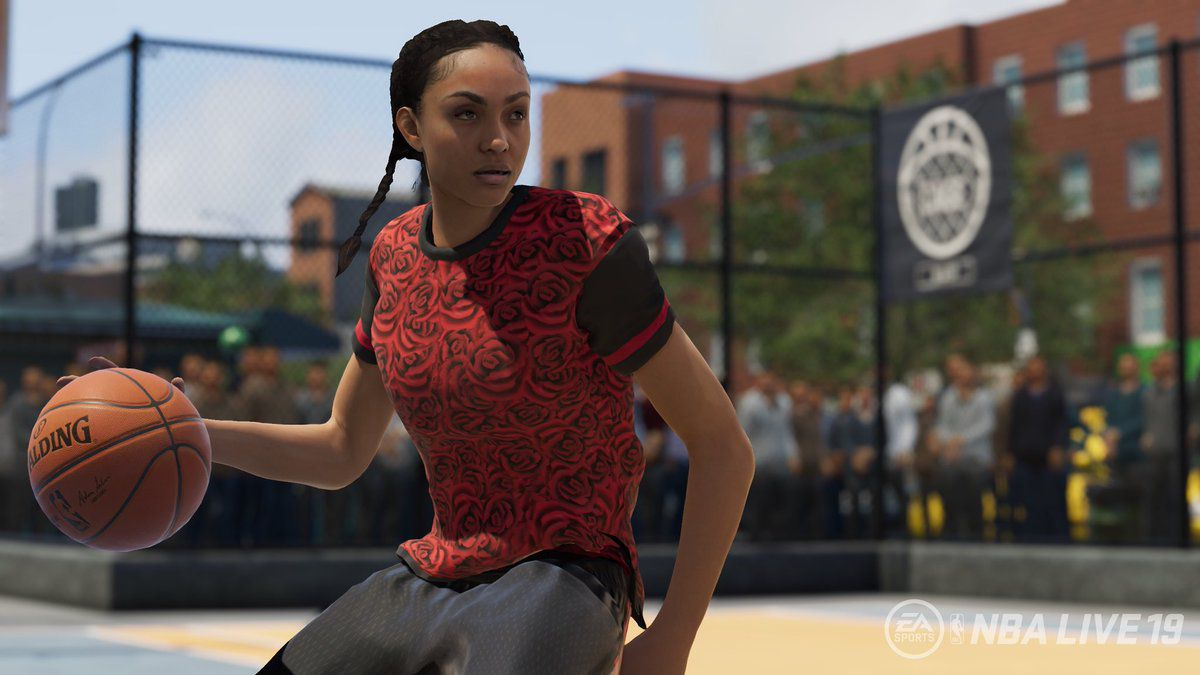 "There's no WNBA career in ""The One,"" but NBA Live 19's women"