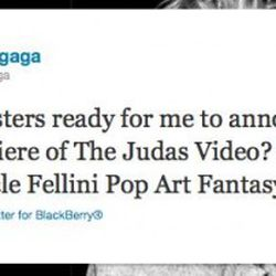 A poorly-timed promotion from Lady Gaga last night
