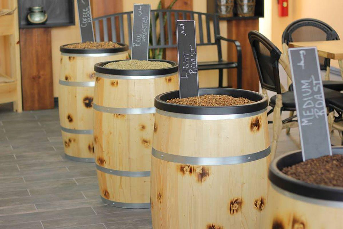 barrels of beans
