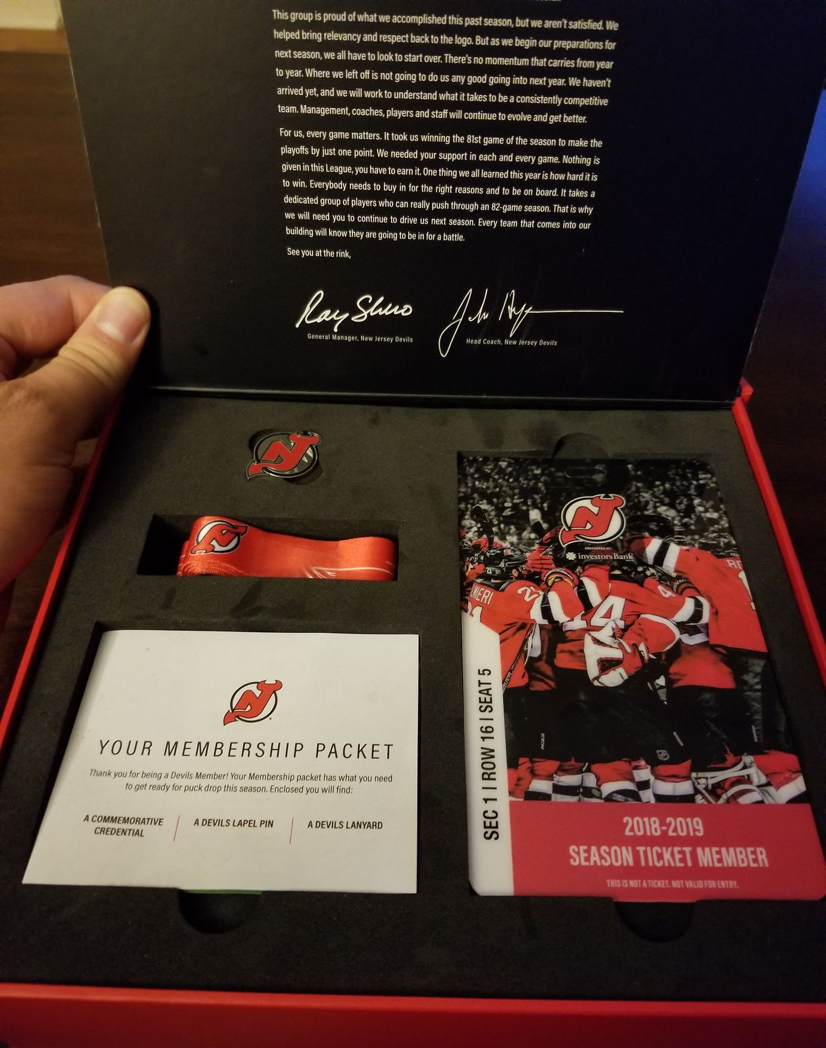 2018-19 Devils STH Box The Goods