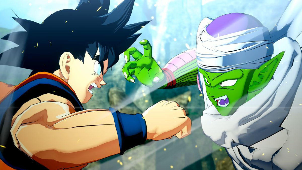 Goku fights Piccolo in Dragon Ball Z: Kakarot
