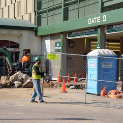 11:19 a.m. More excavation work taking place, at Gate D -