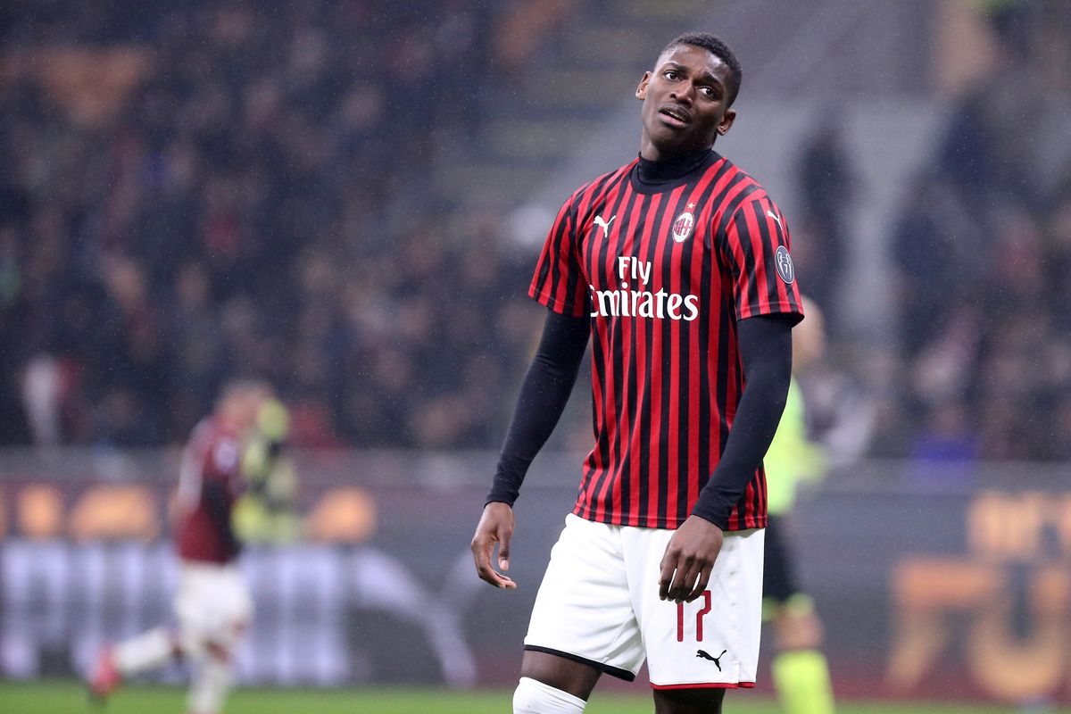 Rafael Leao of Ac Milan in action the Serie A match...
