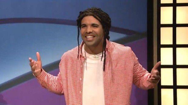 """Drake parodying himself as """"Jared"""" on SNL."""