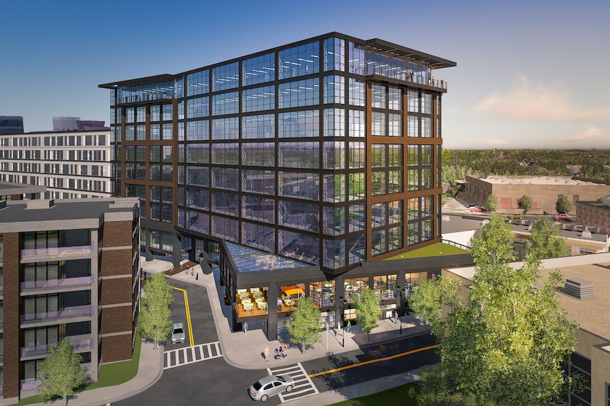 a rendering of the to-be-developed mixed-use