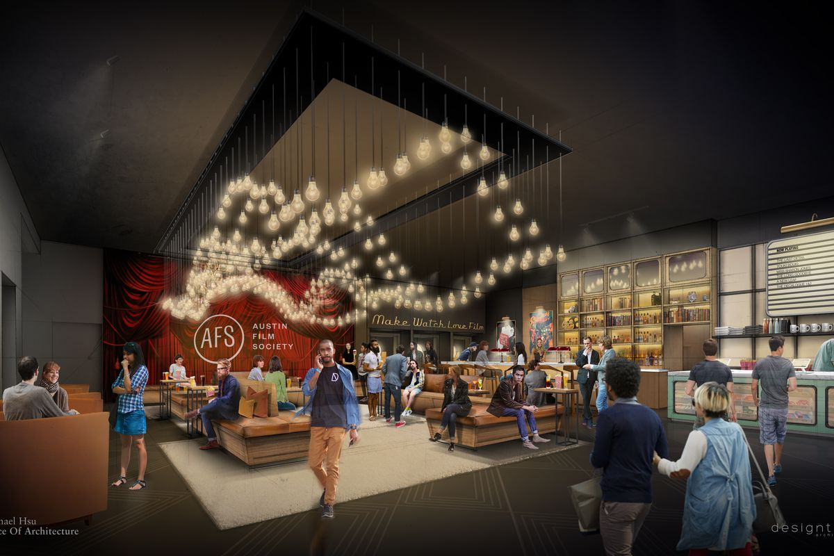 Rendering of Austin Film Society's new digs