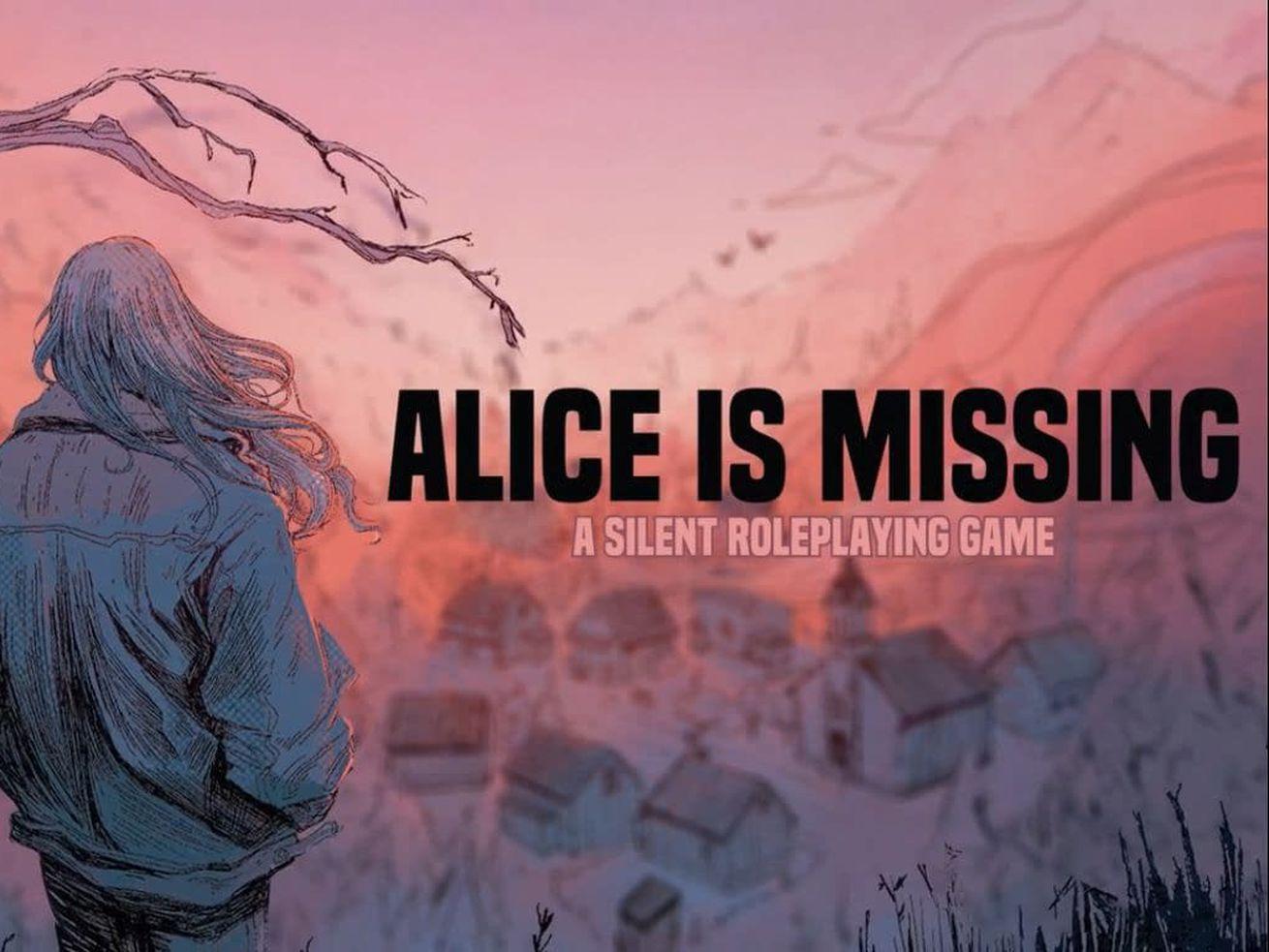 La couverture d'Alice Is Missing montre une femme surplombant une petite ville