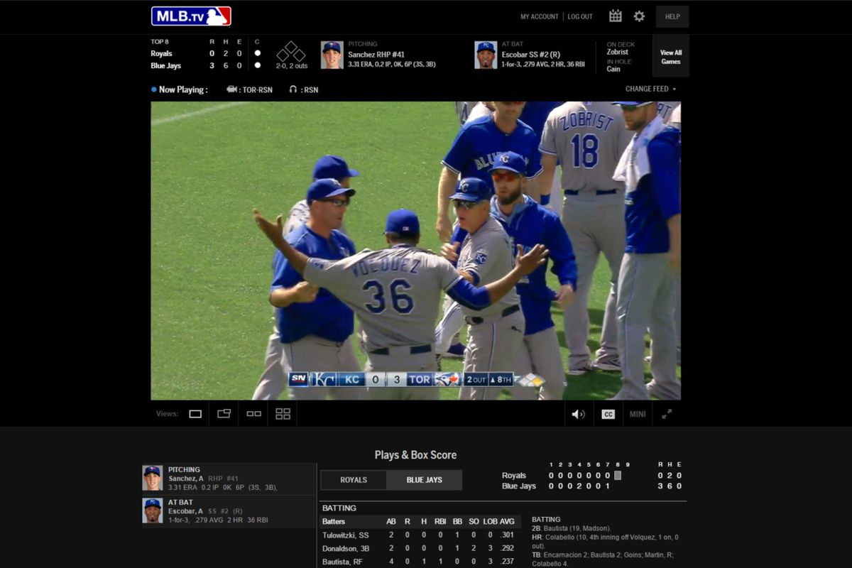 MLB.tv screenshot of one of my favourite games of 2015