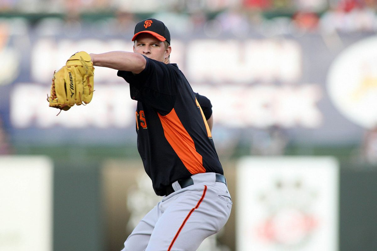 Mar 29, 2012; Surprise, AZ, USA; San Francisco Giants starting pitcher Matt Cain (18) pitches against the Texas Rangers during the first inning at Surprise Stadium.  Mandatory Credit: Jake Roth-US PRESSWIRE