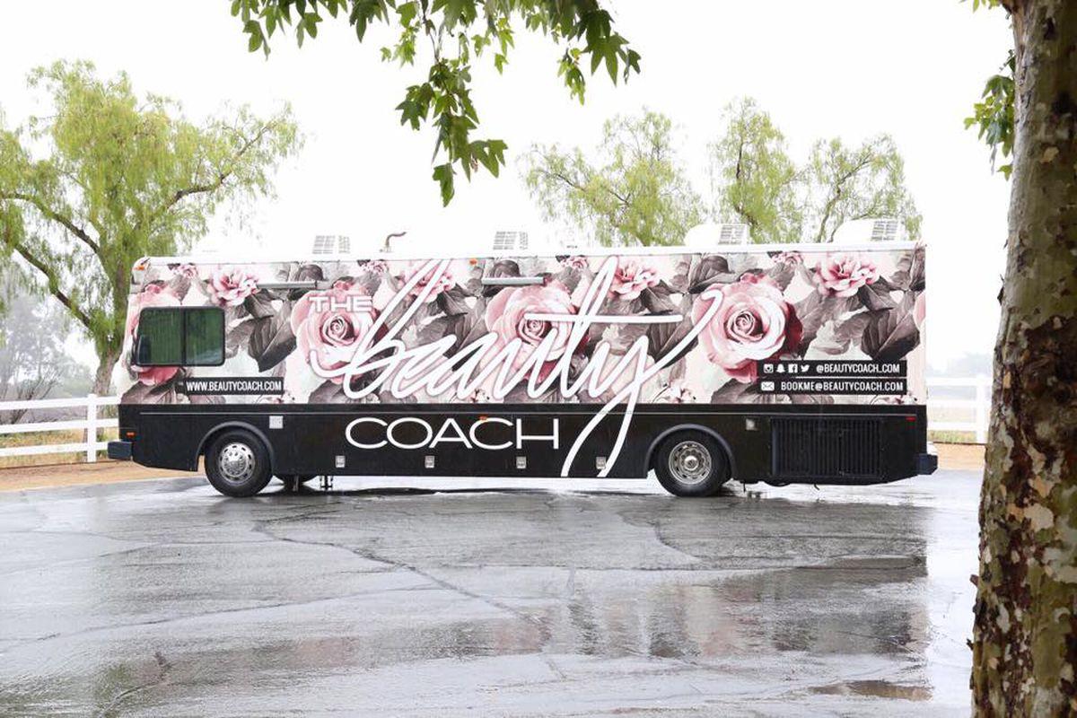 Nine Zero One Salon's mobile beauty coach bus