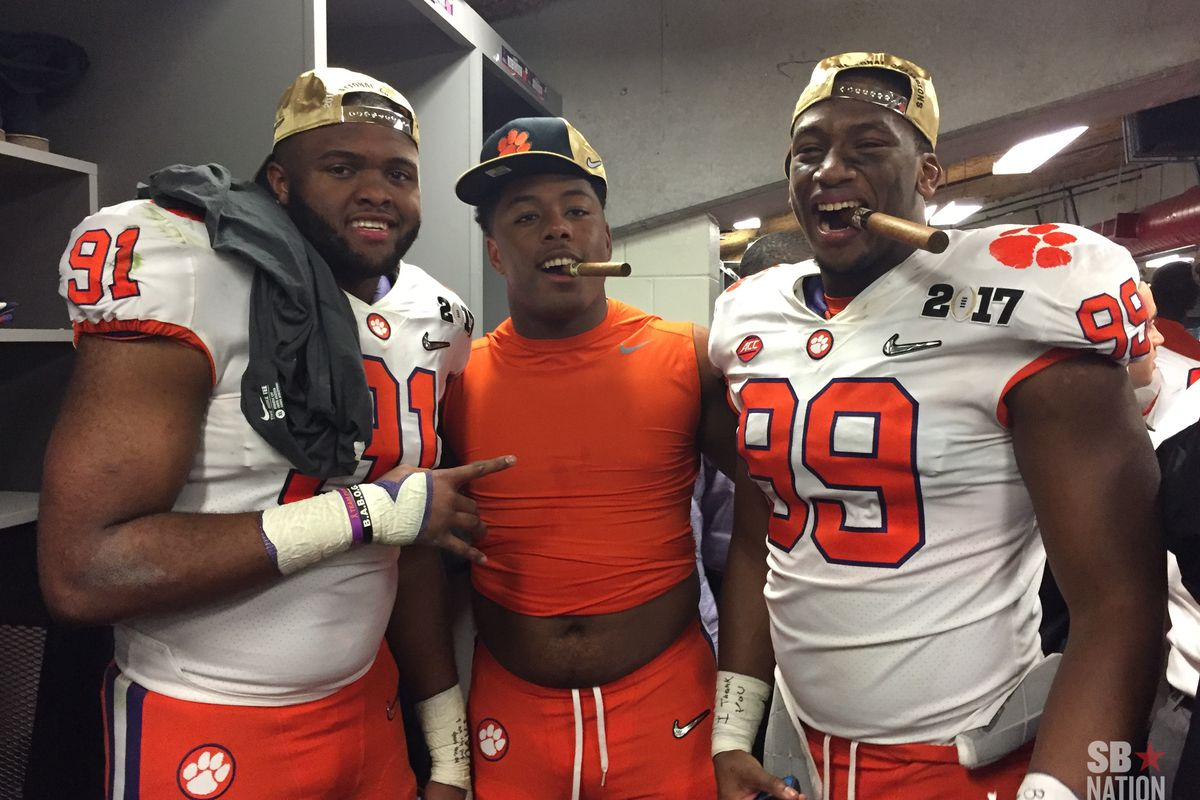 Clemson Earned Its Locker Room Victory Cigars In A