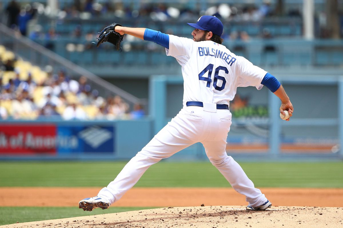 Mike Bolsinger has a 1.04 ERA in three starts for the Dodgers this season. Look out, Bob Gibson.