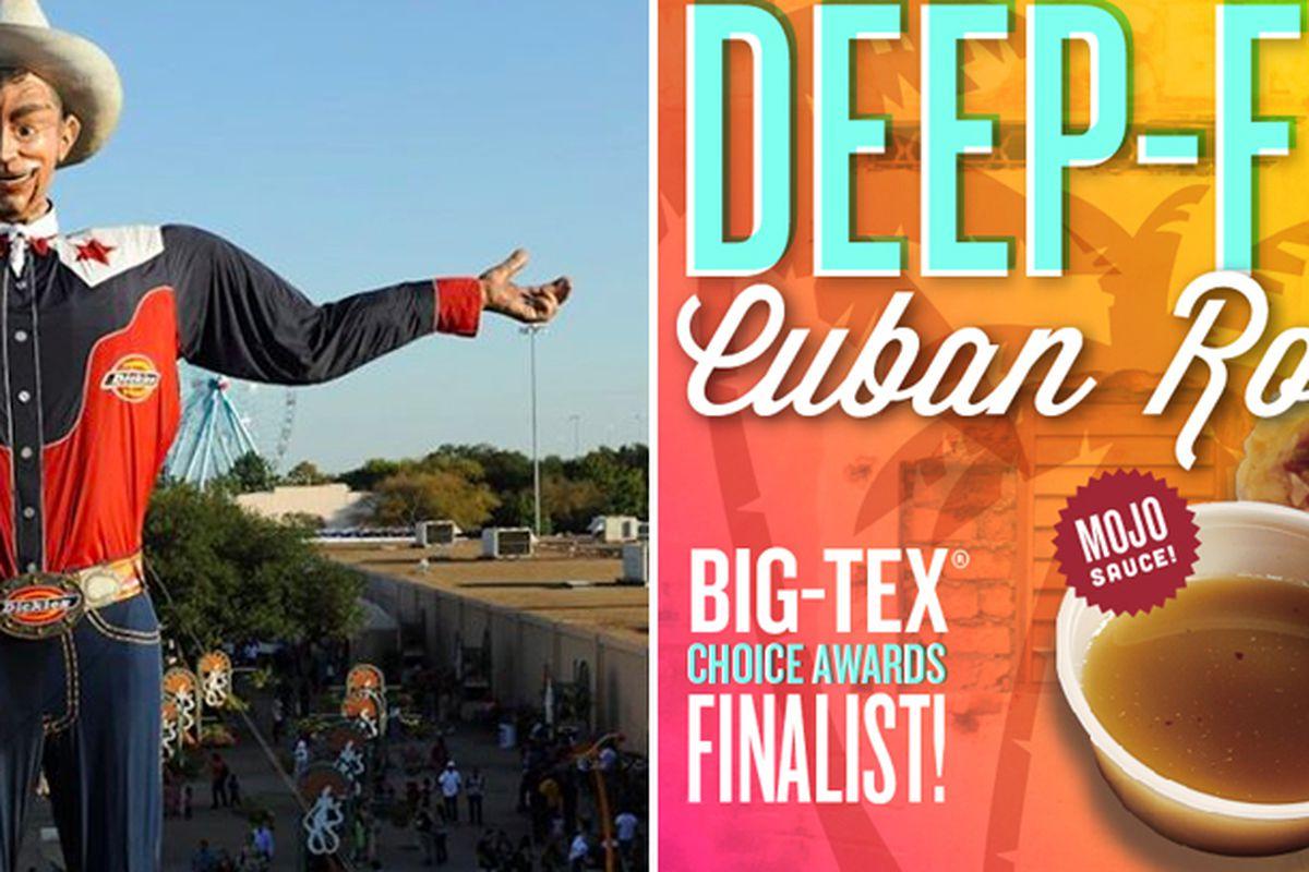 "Photos: <a href=""https://www.facebook.com/photo.php?fbid=268407383197593&amp;set=a.268406653197666.63415.127059740665692&amp;type=3&amp;theater"">State Fair of Texas / Facebook</a>; <a href=""http://deepfriedcubanroll.com/images/CubanRoll_Media_LowRes"